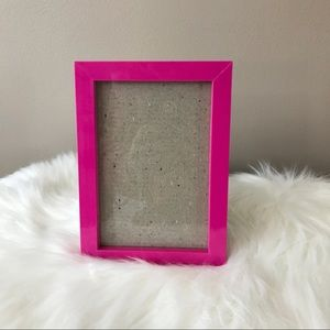 """Hot Pink 4""""x6"""" Picture Frame, Hang or Stand, EUC"""